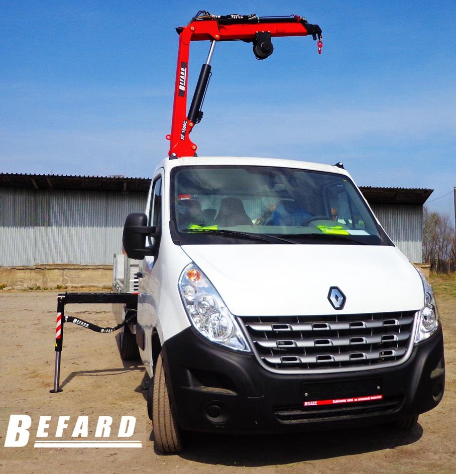Cudowna Żurawie HDS na samochody dostawcze, busy 3.5t – BEFARD UV06
